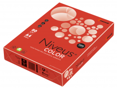 Бумага офисная Niveus A4 80 г/м2 интенсив 500 листов Красная (9003974460666)