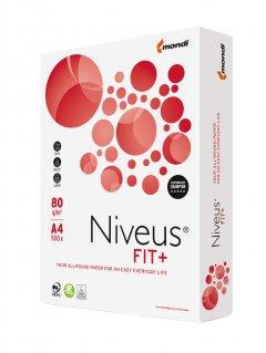 Набор бумаги офисной Niveus Fit+ A4 80 г/м2 класс B 5 пачек по 500 листов Белая (9003974460369)
