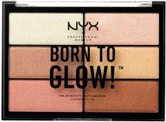 Палетка хайлайтеров NYX Professional Makeup Born To Glow Highlighting Palette 4.8 г (800897146184)