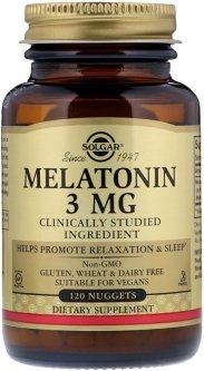 Аминокислота Solgar Мелатонин 3 мг 120 таблеток (033984019355)