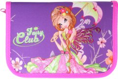 Пенал Class Fairy Club 1 отделение 2 отворота с наполнением (99405/8591662994056)