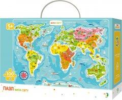 Пазл DoDo Карта Мира на украинском языке 100 элементов (300110/100110) (4820198240097)