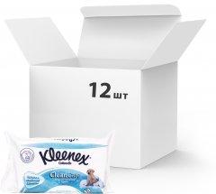 Упаковка влажной туалетной бумаги Kleenex CleanCare листовой (сменный блок) 12 пачек по 42 шт (5029053019086) (5029054035351)