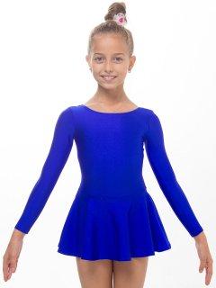 Купальник з спідницею для танців і гімнастики Motus KKU-001-Bl М (128-140см) синій
