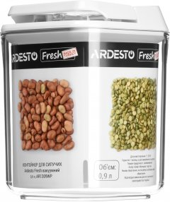 Контейнер для сыпучих продуктов Ardesto Fresh вакуумный 0.9 л Белый (AR1309WP)