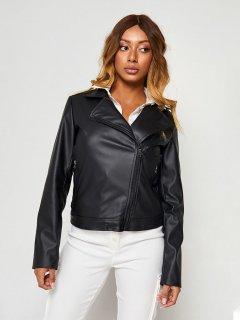 Куртка из искусственной кожи Katarina Ivanenko KIC00029 L Черная (LL2000000181332)