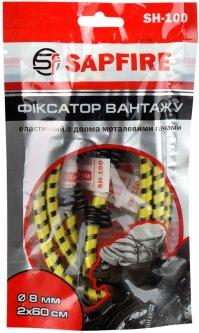 Фиксатор груза Sapfire эластичный с двумя металлическими крючками 60 см (4823101400670)