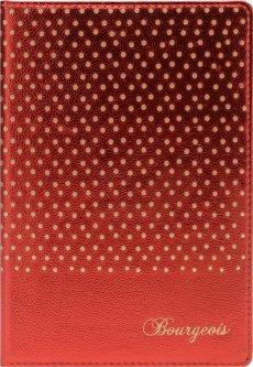 Блокнот Bourgeois N9001 70 г/м² Искусственная кожа + Перфорация А5 80 листов в клетку Красный (6923749726588)