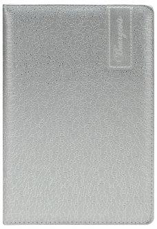 Блокнот Bourgeois N9010 70 г/м² Искусственная кожа А5 80 листов в клетку Серебро (6923749726670)