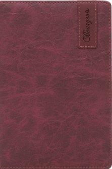 Блокнот Bourgeois N9016 70 г/м² Искусственная кожа А5 80 листов в клетку Багряный (6923749726731)