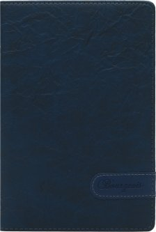 Блокнот Bourgeois N9015 70 г/м² Искусственная кожа А5 80 листов в клетку Синий (6923749726724)