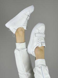 Жіночі кеді HBM Malina 36 розмір, білий, натуральна шкіра, зручна устілка латекс/шкіра