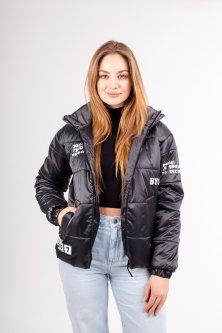 """Жіноча демісезонна куртка Uzeff """"Ліка"""" графіт 44"""