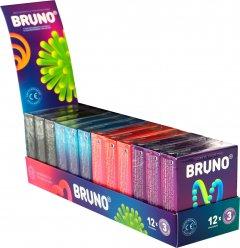 Презервативы Bruno 36 шт (12 упаковок по 3 шт ) (4820234160112)