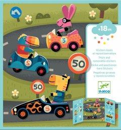 Набор для творчества Djeco с наклейками Автомобили (DJ09073) (3070900090736)