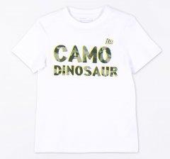 Футболка Coccodrillo Everyday Dinosaur WC1143201EDI-001 122 см Белая (5904705493141)