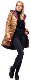 Пальто-пуховик Milhan 1812 34 Бежево-красное (2000000033242)