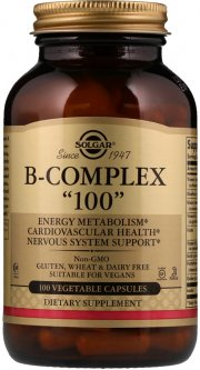 "Витамины Solgar Витамины B-комплекс B-Complex ""100"" 100 капсул (033984011502)"