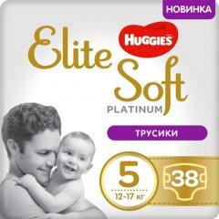 Трусики-подгузники Huggies Elite Soft Platinum Mega 5 12-17 кг 38 шт (5029053548838)
