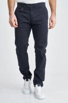 Темно-сині прямі брюки Aeronautica Militare 3817 50
