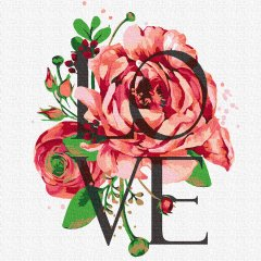Картина по номерам Rosa Start Love 25х25 см (4823098523574)