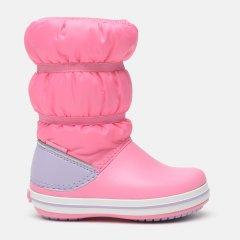 Сапоги Crocs Crocband Winter Puff Boot Kids 206550-C7 24 14 см Pink Lemonade/Lavender (191448590564)
