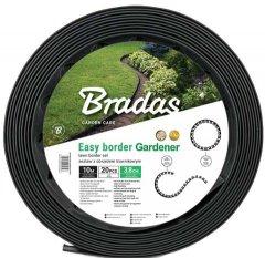 Газонный бордюр Bradas набор с колышками 10 м Черный (OBEB3810SET)