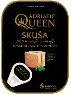 Скумбрия Adriatic Queen филе в оливковом масле 105 г (3850160110074)