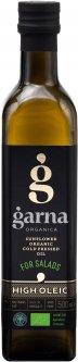 Масло подсолнечное Garna Organica высокоолеиновое холодного прессования невымороженное органическое первого сорта 500 мл (4820044491567)