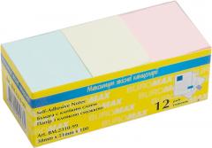 Набор бумаги для заметок с клейким слоем Buromax 38х51 мм 12 блоков по 100 листов Ассорти (BM.2310-99)