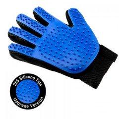 Перчатка для вычесывания шерсти True Touch Pet Glove for dogs and cats Blue Черно-синяя (А1)