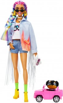 Кукла Barbie Экстра с радужными косичками (GRN29)