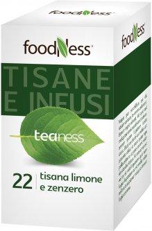 Лимонно-имбирный травяной чай в пакетиках FoodNess Tisana al Limone e Zenzero 20 шт (8031848003757)