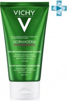 Матирующий крем-гель Vichy Normaderm Phytosolution Mattifying Cleansing Cream для очищения и уменьшения жирного блеска кожи лица 125 мл (3337875703413)