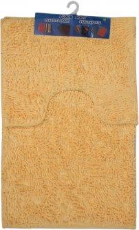 Набор ковриков в ванную комнату Kornel 50 х 80, 40 х 50 см Персиковый (KL-46 персиковий)