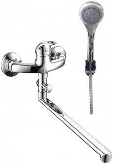 Смеситель для ванны SILVER Оптима SLBN0496 с душевым гарнитуром
