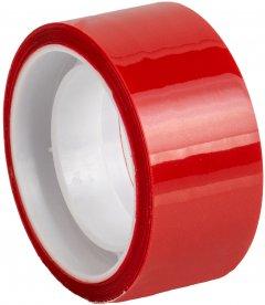 Клейкая канцелярская декоративная лента Optima 18 мм x 10 м Красная 8 шт (O45366)