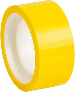 Клейкая канцелярская декоративная лента Optima 18 мм x 10 м Желтая 8 шт (O45368)
