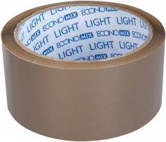 Клейкая упаковочная лента Economix light 45 мм x 50 м Коричневая 6 шт (E47802)