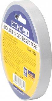 Клейкая двусторонняя лента Economix Tissue 12 мм x 10 м Прозрачная 6 шт (E40831)