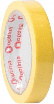 Клейкая малярная лента Optima 18 мм x 27 м Желтая (O45340)