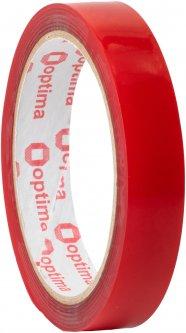 Клейкая двусторонняя лента Optima пеноакриловая (VHB) 18 мм x 2 м Красная (O45348)
