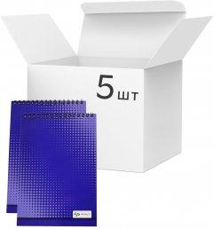Упаковка блокнотов 4Profi Profiplan Color office A5 в клетку 40 листов Blue 5 шт (903320)