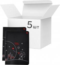 Упаковка блокнотов 4Profi Profiplan Twins series А5 в клетку 40 листов Miss You 5 шт (904334)