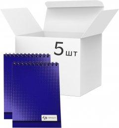 Упаковка блокнотов 4Profi Profiplan Color office A6 в клетку 40 листов Blue 5 шт (903382)