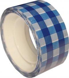 Клейкая канцелярская декоративная лента Optima Tartan 18 мм x 10 м Синяя 8 шт (O45370)