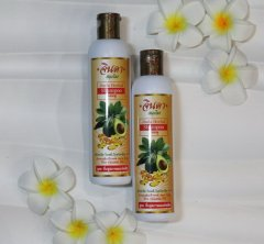 Шампунь для волос Jinda Herb травяной с авокадо и витамином B5, 250 гр