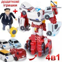 Робот супергерой - трансформер тобот Guatran x4 cars з рухомими деталями для хлопчиків - гарна іграшка зі звуком та світлом, Різнокольоровий