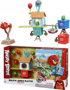 Игровая фигурка Jazwares Angry Birds ANB Medium Playset (Pig City Build 'n Launch Playset) (ANB0015)