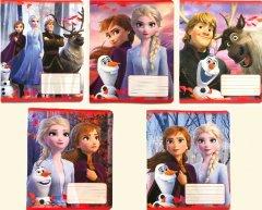 Набор тетрадей ученических 25 шт Тетрада Disney Frozen А5 в клетку 12 листов (5 дизайнов) (11901)